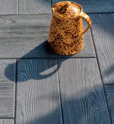 image de Terrassenplatten mit Holzstruktur